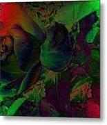 Psychedelic Rose Metal Print