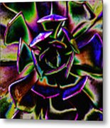 Psychedelic Rubber Plant Metal Print