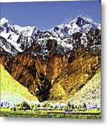 Psychedelic Southern Alps New Zealand Metal Print