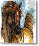 Psychodelic Chestnut Horse Original Painting 2 Metal Print