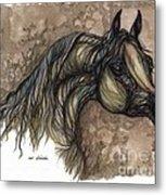 Psychodelic Grey Horse Original Painting Metal Print