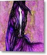 Psychodelic Purple Horse Metal Print