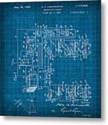 Pt Farnsworth Television Patent Blueprint 1930 Metal Print