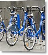 Public Shared Bicycles In Melbourne Australia Metal Print