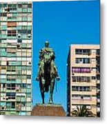 Public Statue Of General Artigas In Montevideo Metal Print