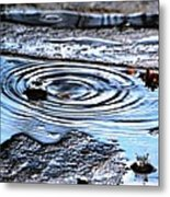 Puddle Water Droplet Metal Print