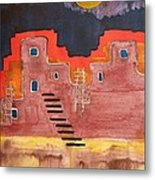 Pueblito Original Painting Metal Print