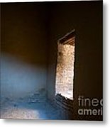 Pueblo Bonito Interior Window Detail Metal Print