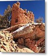 Pueblo Cliff Metal Print