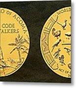 Pueblo Of Acoma Tribe Code Talkers Bronze Medal Art Metal Print