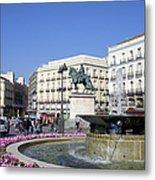 Puerta Del Sol In Madrid Metal Print