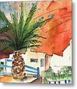 Puerto Carmen Sunset In Lanzarote Metal Print