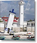 Puerto Morelos Lighthouse Metal Print