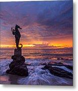 Puerto Vallarta Seahorse Metal Print