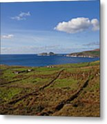Puffin Island From The Skelligs Ring Metal Print