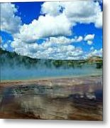 Puffy Clouds And Hot Springs Metal Print