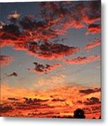Puffy Pink Clouds Metal Print