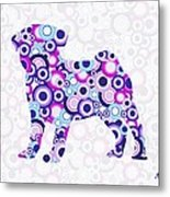 Pug - Animal Art Metal Print