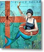Puget Sound Mermaid  Metal Print