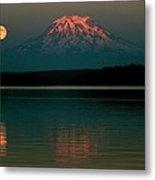Puget Sound Moonrise Metal Print