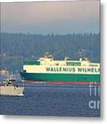 Puget Sound Shipping Waterway Metal Print