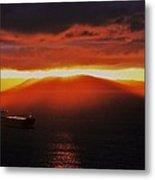 Puget Sound Sunset Metal Print