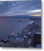 Puget Sound Sunset Illumination Metal Print