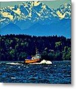 Puget Sound Tugboat Metal Print