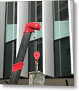 Pulley And Pail Metal Print