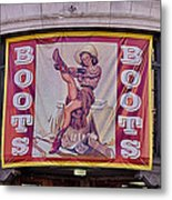 Pulling On Her Boots In Nashville Metal Print