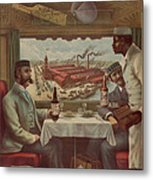 Pullman Compartment Cars Ad Circa 1894 Metal Print