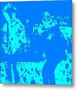 Pulp Fiction Dance Blue Metal Print