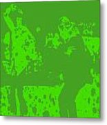 Pulp Fiction Dance Green Metal Print