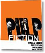 Pulp Fiction Poster Metal Print