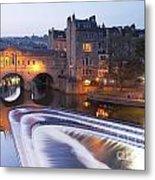 Pulteney Bridge And Weir Bath Metal Print
