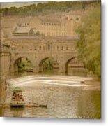 Pulteney Bridge In Bath Metal Print
