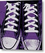 Pumped Up Purple Metal Print