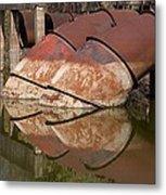 Pumphouse Intake Pipes Metal Print