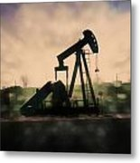 Pumpin Oil Metal Print
