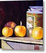 Pumpkiins At Collier Farm Metal Print