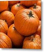 Pumpkin Background Metal Print