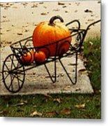 Pumpkin Barrow Metal Print
