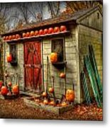 Pumpkin House Metal Print