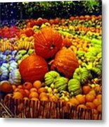 Pumpkin Love Metal Print
