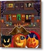 Pumpkin Masquerade Metal Print