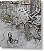Pumpkin Thieves Climb Out Of Thier Hidden Places Metal Print