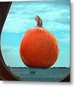 Pumpkin View Metal Print