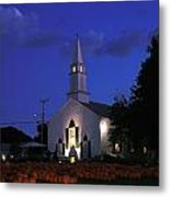 Pumpkins Church Metal Print