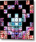 Punch Out Colors Metal Print