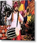 Punjabi Dhol Metal Print